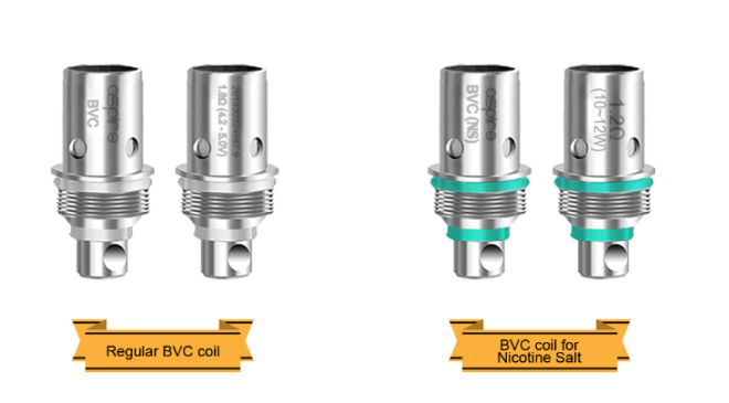 Aspire Spryte AIO Kit different coil heads