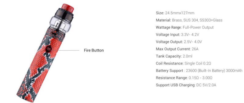 Sigelei Sibra F Kit fire button